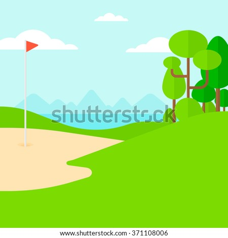 Background of golf field.