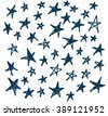 background of hand-drawn star.Vector Illustration - stock vector
