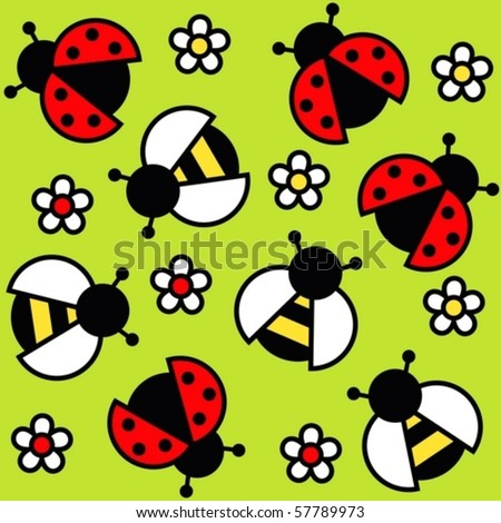 background of insects - stock vector