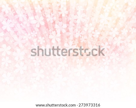 Background of pink flowers - stock vector