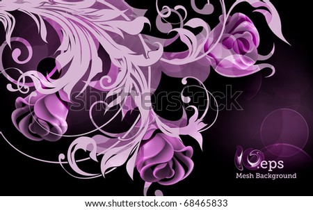 Background of roses, eps10 - stock vector