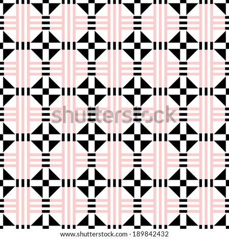Background of Seamless Geometric Pattern  - stock vector