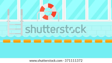 Background of swimming pool. - stock vector