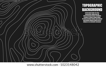 Contour Line Drawing Map : Background topographic map lines stock vector