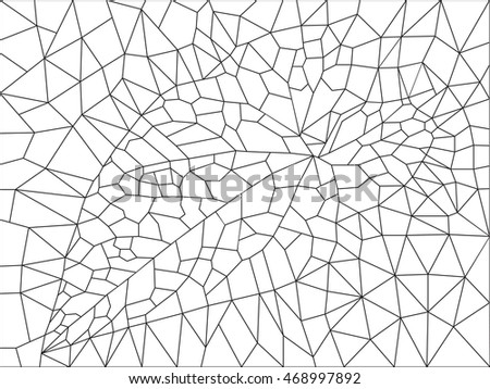 background of the triangles with the image of leaf bindweed for coloring