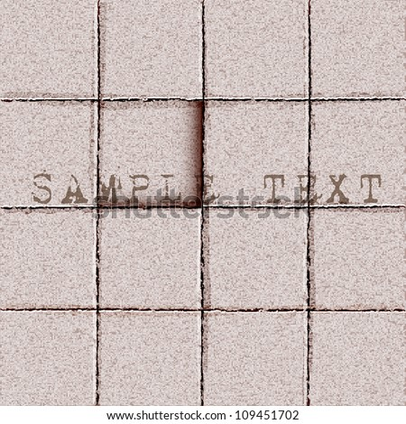 Background of tiles ground. Vector eps10 - stock vector