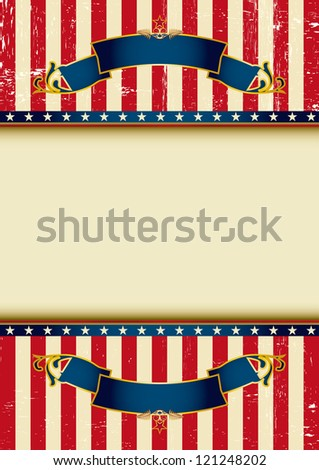 Background of USA. An american background for your advertising. - stock vector