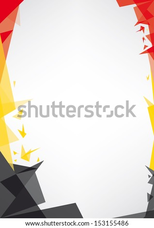 background origami of Belgium.  a design background (Origami style) for a very nice poster - stock vector