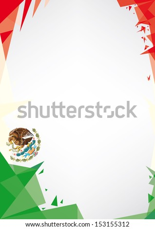 background origami of Mexico.  a design background (Origami style) for a very nice poster - stock vector