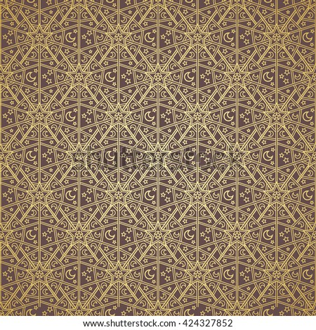 Background pattern design gold for Ramadan Kareem.