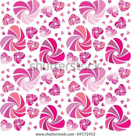 background-pattern - different pink hearts