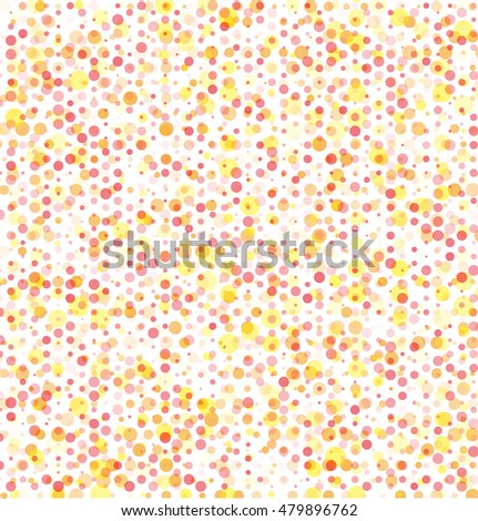 background pattern of circles of different sizes, colors and transparency.