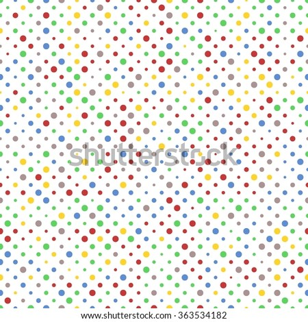 Background pattern of vibrant red, green and yellow dots