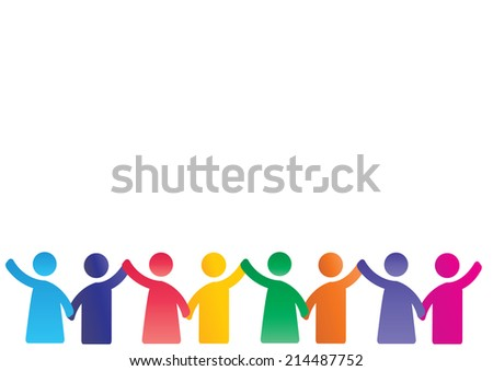 Background pictogram showing figures happy family - stock vector