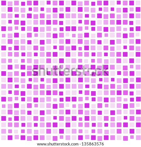 Background pink lilac purple mosaic - stock vector
