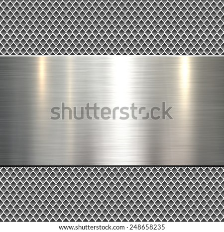 Background Polished Metal Texture Vector Stock Vector