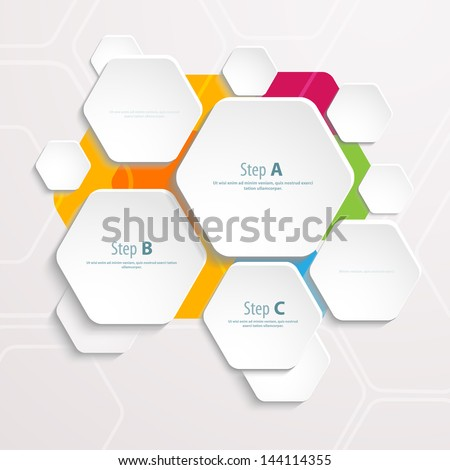Background Polygons Cut Paper Design Template Stock Vector (2018 ...