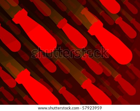 Background red bomb nuclear poster - stock vector