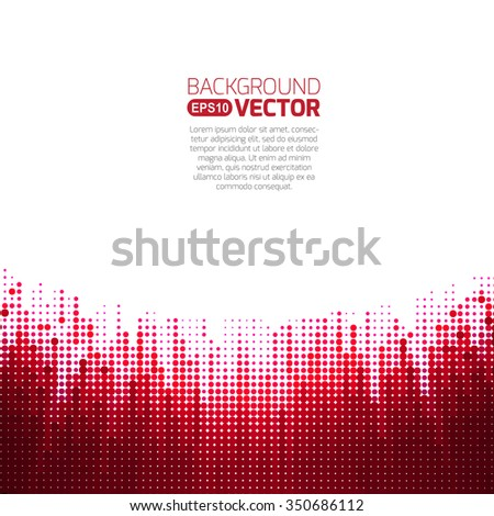 Background red pattern with tech - stock vector