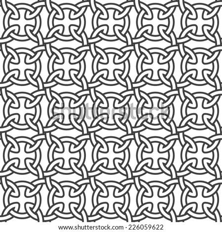 Background seamless celtic pattern.  Vector illustration. - stock vector