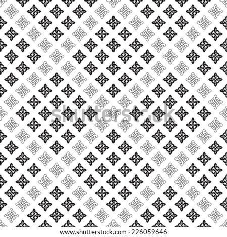 Background seamless celtic pattern.  Vector illustration. - stock vector