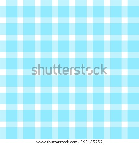 Background seamless pattern gingham tablecloth in blue - stock vector