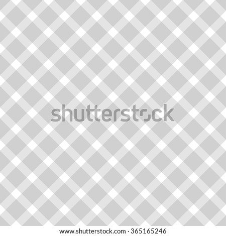 Background seamless pattern gingham tablecloth in grey - stock vector