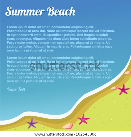 background summer beach for design - stock vector