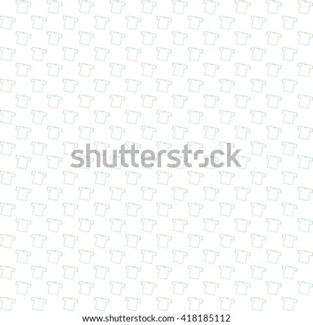 Background t-shirt vector illustration. shirts.Templates  shirts for your site. Seamless pattern with t-shirts. Bright white background - stock vector