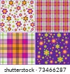 background vector flowers - stock vector