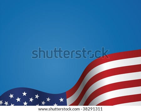Background vector illustration of the United States flag