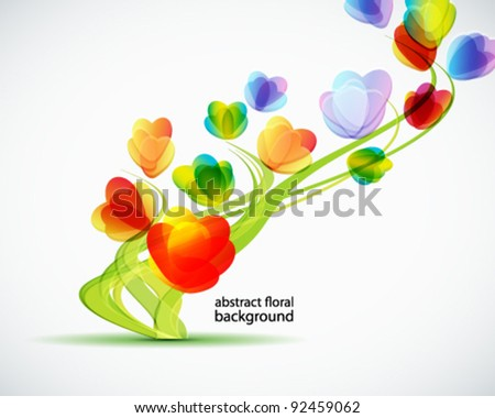 Background with a abstract flowers eps 10 - stock vector