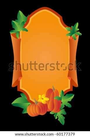 background with a pumpkin.jpg - stock vector