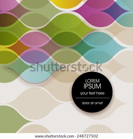 Background with abstract shapes, eps10 vector - stock vector