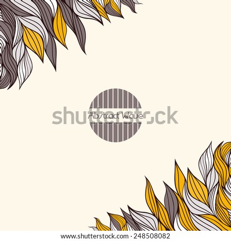 Background with abstract waves. Place for text. Vector illustration