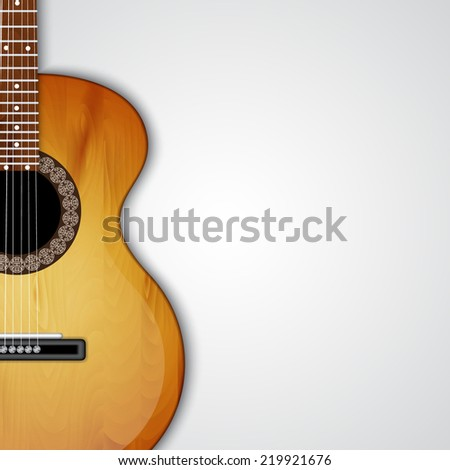 Background with acoustic guitar. EPS10 vector - stock vector