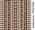 Background with African brown motifs - stock vector