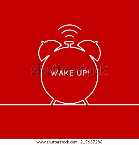 Background with alarm clock. The concept of early awakening. morning  wake up and deadline. vector - stock vector
