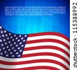 Background with american flag - stock photo