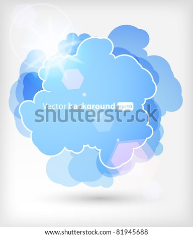 Background with an abstract cloud