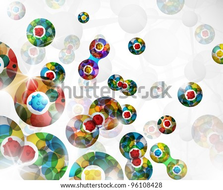 Background with an abstract image of the cell division. Eps 10 - stock vector