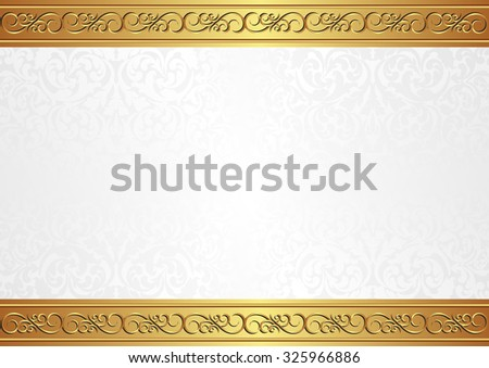 background with antique pattern - stock vector