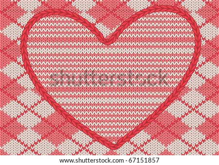 Background with application in shape of heart