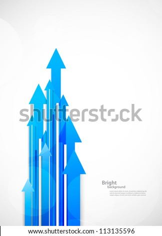 Background with arrows - stock vector