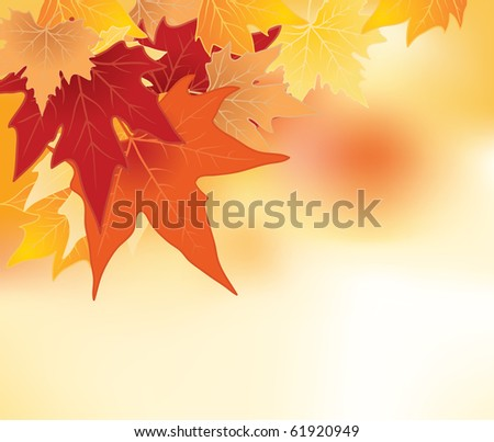 background with autumn leaves - stock vector