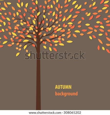 background with autumn tree for your text