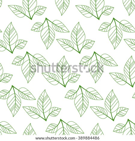Background with beautiful leaves. Seamless pattern. vector illustration