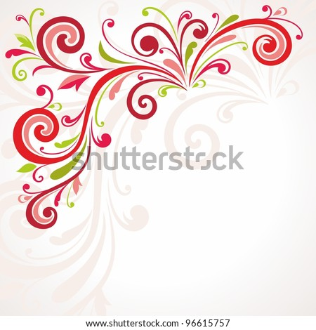 Background  with beautiful pattern - stock vector