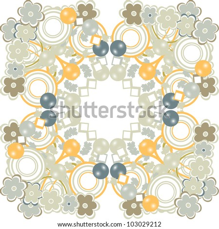 Background with blooming flowers - stock vector