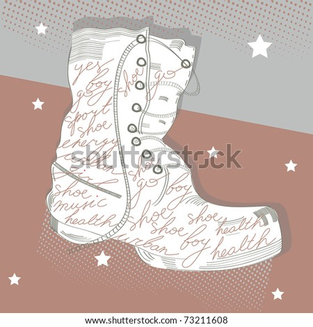 Background with boots
